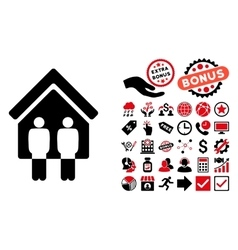 Living Persons Flat Icon with Bonus vector