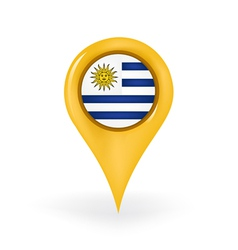 Location Uruguay vector image