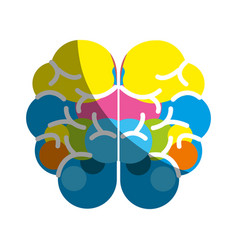 Mental health brain art icon vector