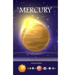 Mercury planet sun system universe vector