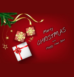 merry christmas background elements with festive vector image