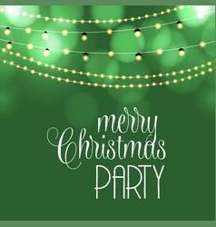merry christmas party background vector image