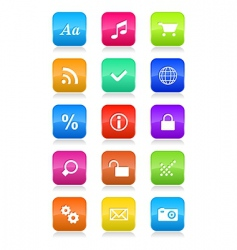 mobile phone interface icons vector image