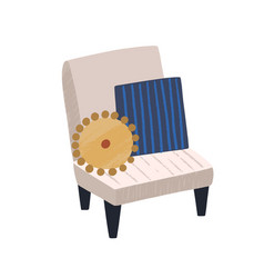 modern chair with cushions armchair vector image