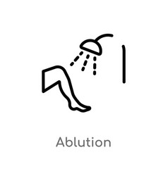 Outline ablution icon isolated black simple line vector