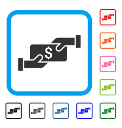 Payment framed icon vector