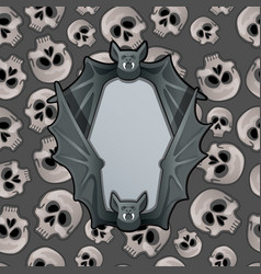 poster in style halloween holiday metal frame vector image
