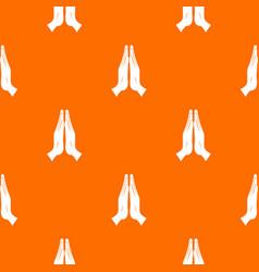 prayer pattern seamless vector image