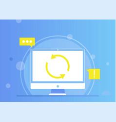 Remarketing web sites computer update online vector