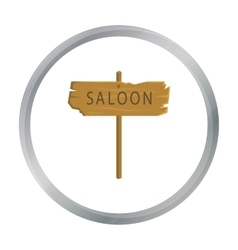 Saloon icon cartoon Singe western icon from the vector image