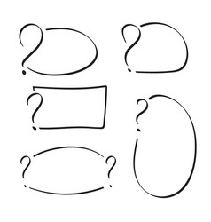 set question mark vector image