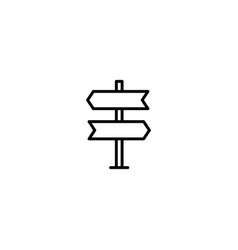 signpost direction icon vector image