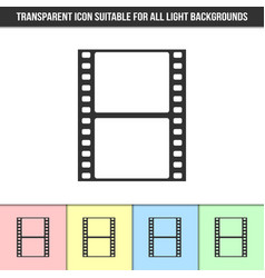 simple outline transparent film strip icon on vector image