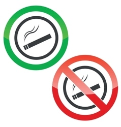 Smoking permission signs vector image