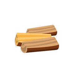 stack of firewood logs isolated on white vector image