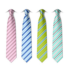 Striped silk ties vector
