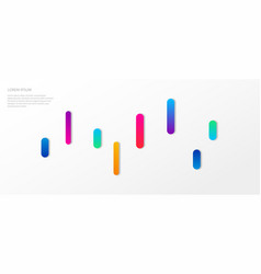 template minimalistic cover with gradients vector image