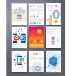 Templates flyer brochure magazine cover vector image