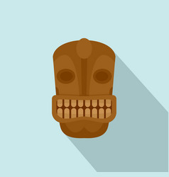 tiki head idol icon flat style vector image