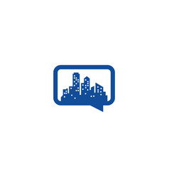 town chat logo icon design vector image