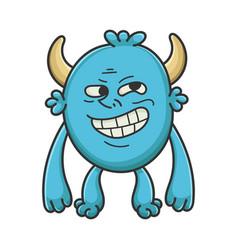 trolling meme cartoon furry creature monster vector image