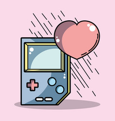 Ttechnologic videogame console with heart symbol vector