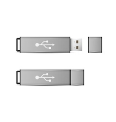 USB Flash Drive isolated on white background vector