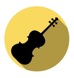 violine sign flat black icon vector image vector image