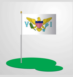 Virgin islands us flag pole vector