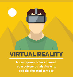virtual reality new technologies and on line vector image