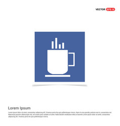 Warm drink icon - blue photo frame vector