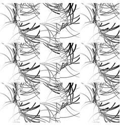 wavy lines repeatable pattern black and white vector image
