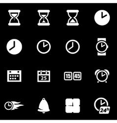white time icon set vector image