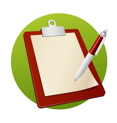 writing board vector image