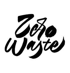 Zero waste lettering composition vector