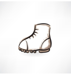 boot grunge icon vector image