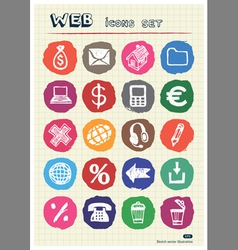 Business shopping and work web icons set vector image