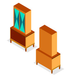 flat fashion design isometric of modern cupboard vector image