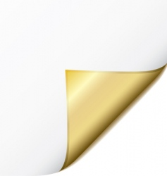 golden page curl vector image