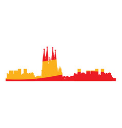 isolated cityscape of barcelona vector image