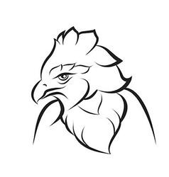 Line art of crown eagle vector image