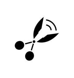 office scissors icon black vector image vector image