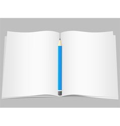 Pages with pencil vector image