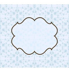 seamless background pattern and frame vector image vector image