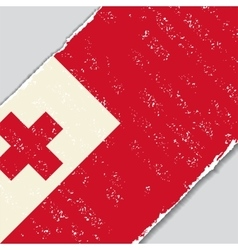 Tonga grunge flag vector image vector image
