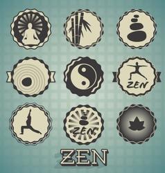 Zen Labels vector image vector image
