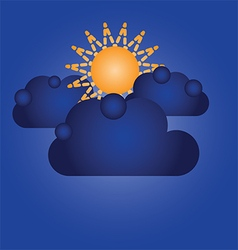 140715 Blue clouds vector image vector image
