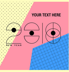 2018 new year futuristic with vector image vector image