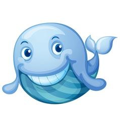 blue fish vector image