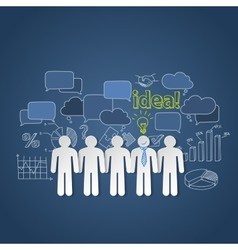 Business people discussion group teamwork idea vector image vector image